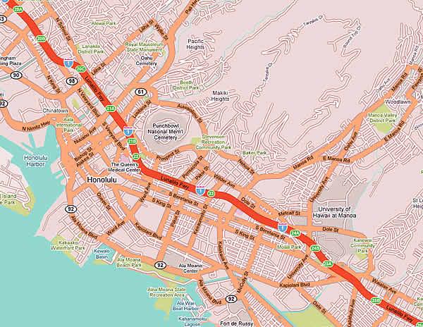 Honolulu - Mappa